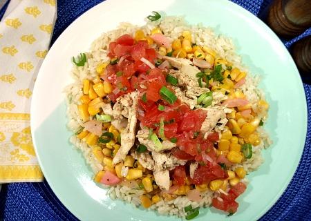Chicken with Corn Salsa