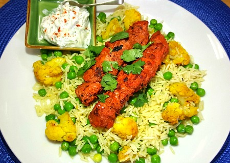 Grilled Tandoori Chicken Skewer