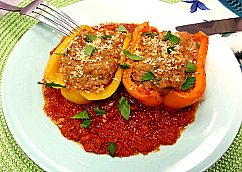 Homestyle Meat Stuffed Peppers