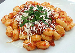 Gnocchi Roasted Red Pepper Tomato Sauce