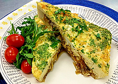 Caramelized Onion and Gruyère Frittata