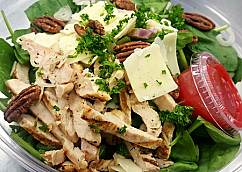 Green Salad with Roasted Pecans and Shaved Parmesan
